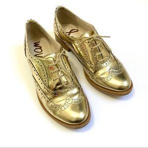 Sam Edelman Jerome Gold Metallic Oxfords